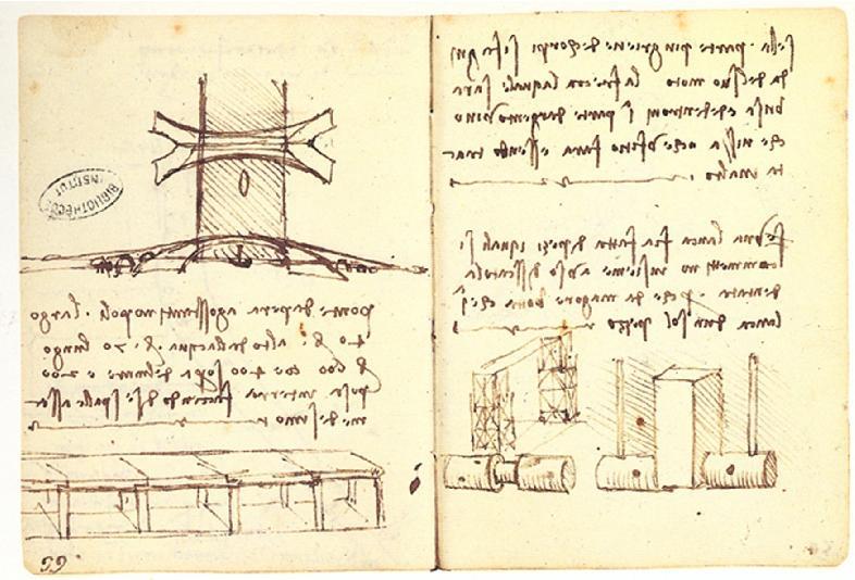 Tegning av Leonardobroen