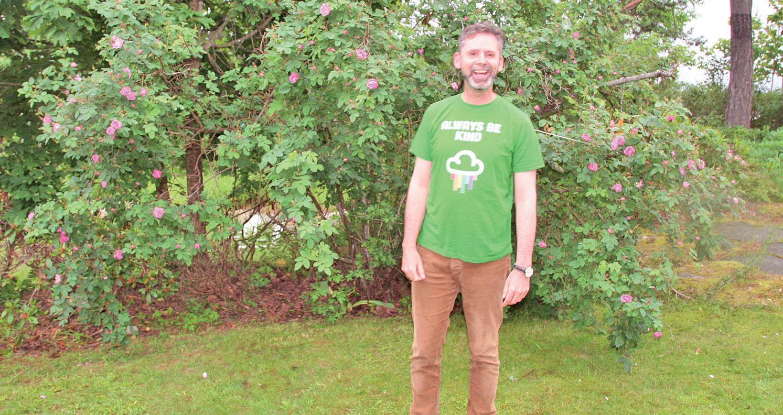 Arjo van Genderen i en grønn profil