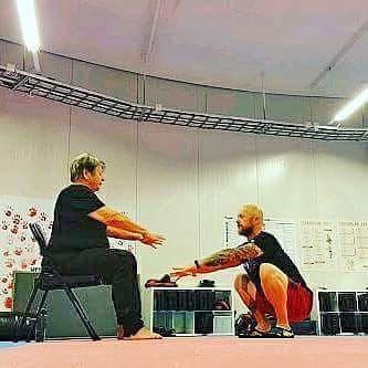 Paal Erik trener sammen med moren Wenche Løvig Husby