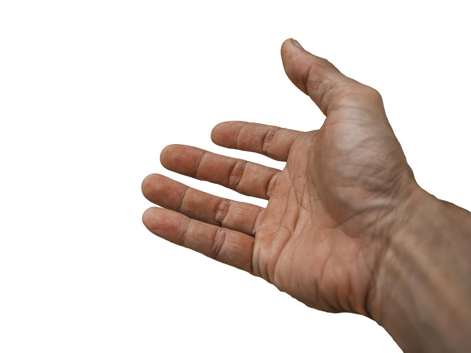 Utstrakt hånd