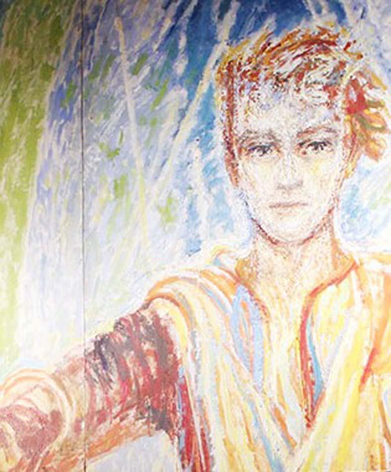 Illustrasjon av Jesus, med kort hår