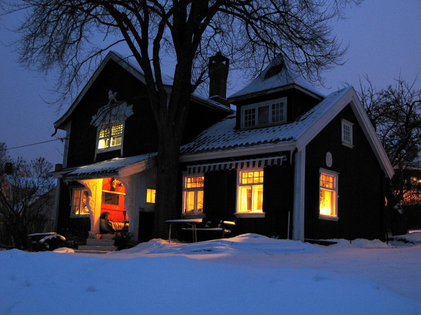 Vinterstemning,Dørnbergerhuset