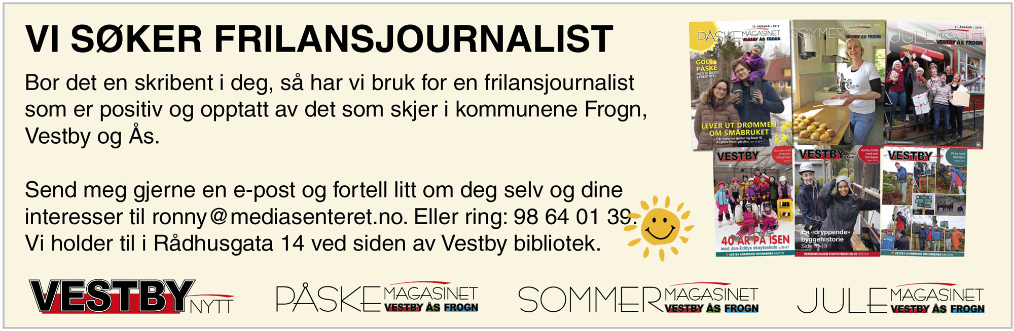 Vi søker frilansjournalist