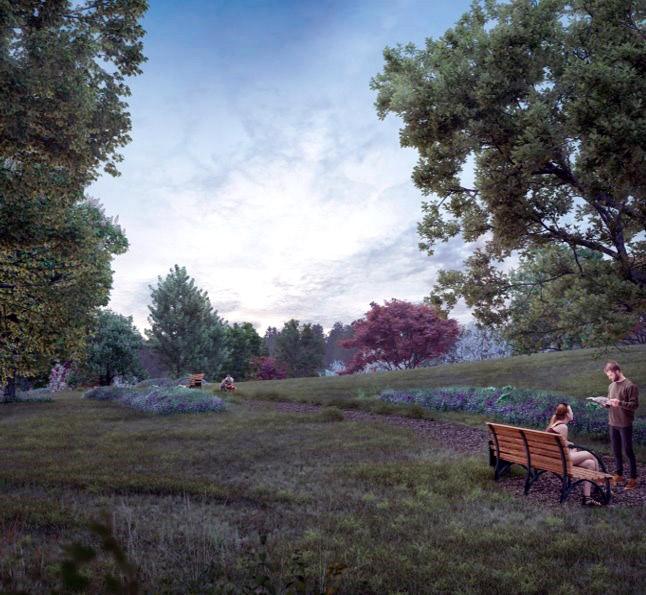Illustrasjon to personer en sitter på benk en leser en bok