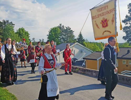 Vestby skolemusikkorps med flere nye medlemmer (med link til 17.mai program fra kommunen).