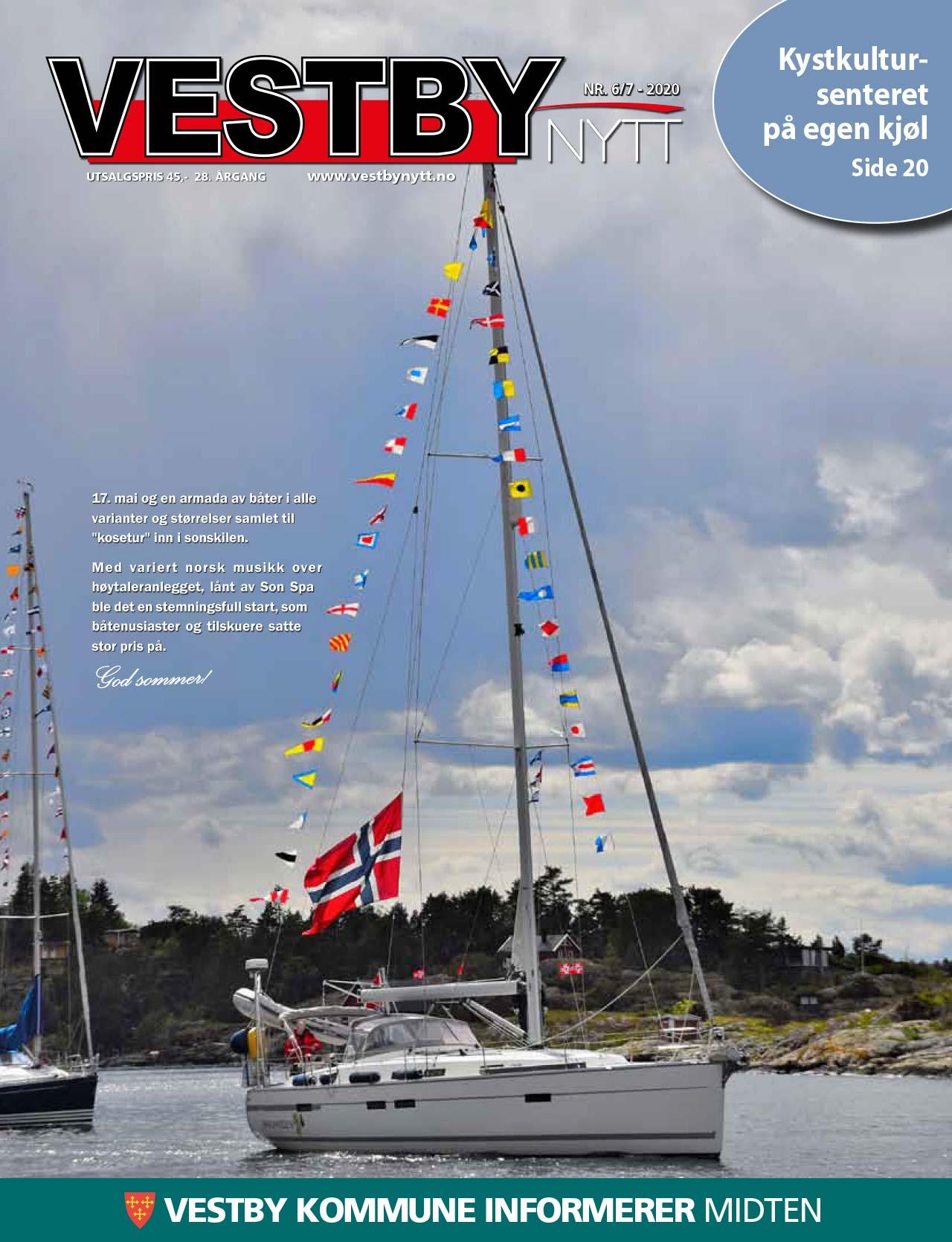 Vestby Nytt nr 6/7 2020 forside