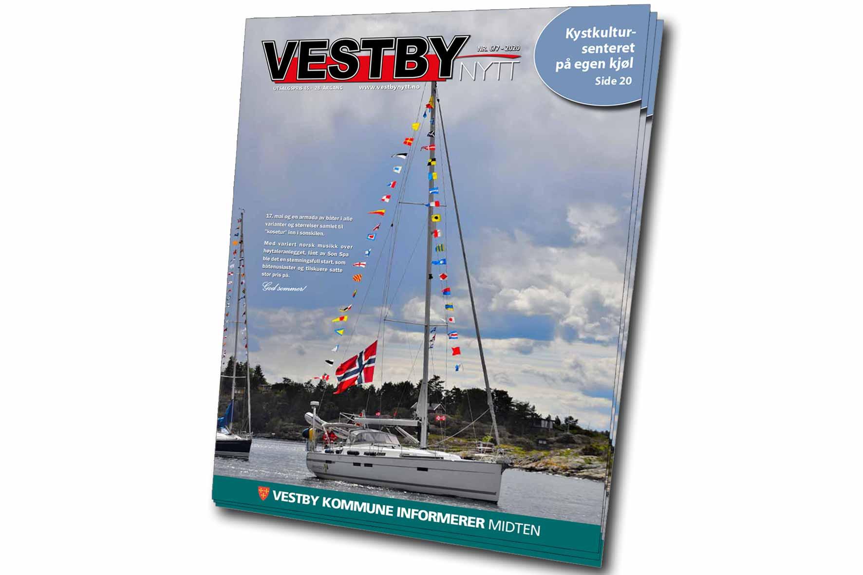 Bilde av forsiden til Vestby Nytt nr.6 2020