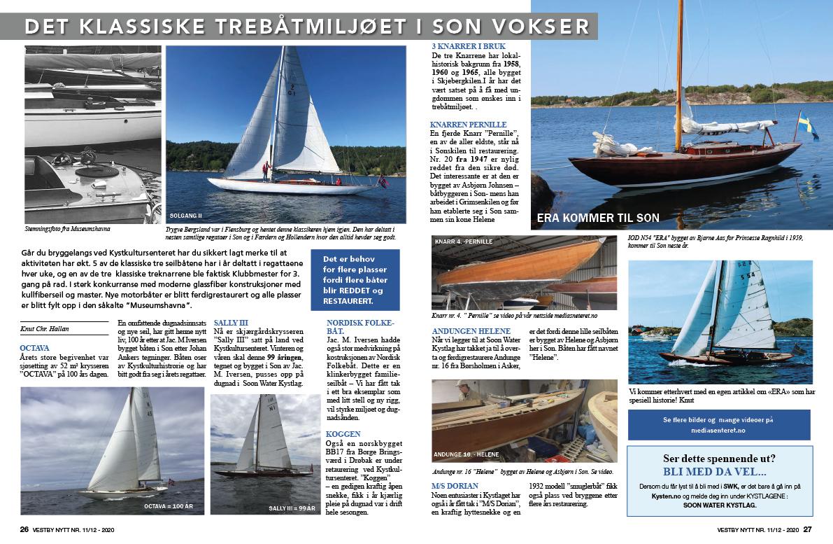 Klassisk trebåter tekst og bilder