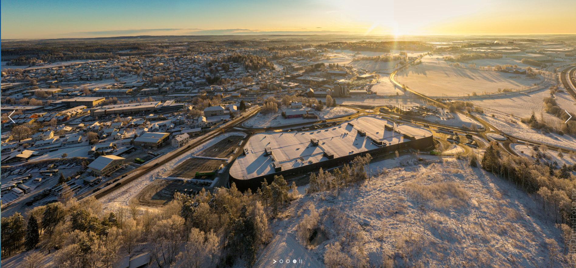 Follo Dronefoto tatt foto Vestby Nord