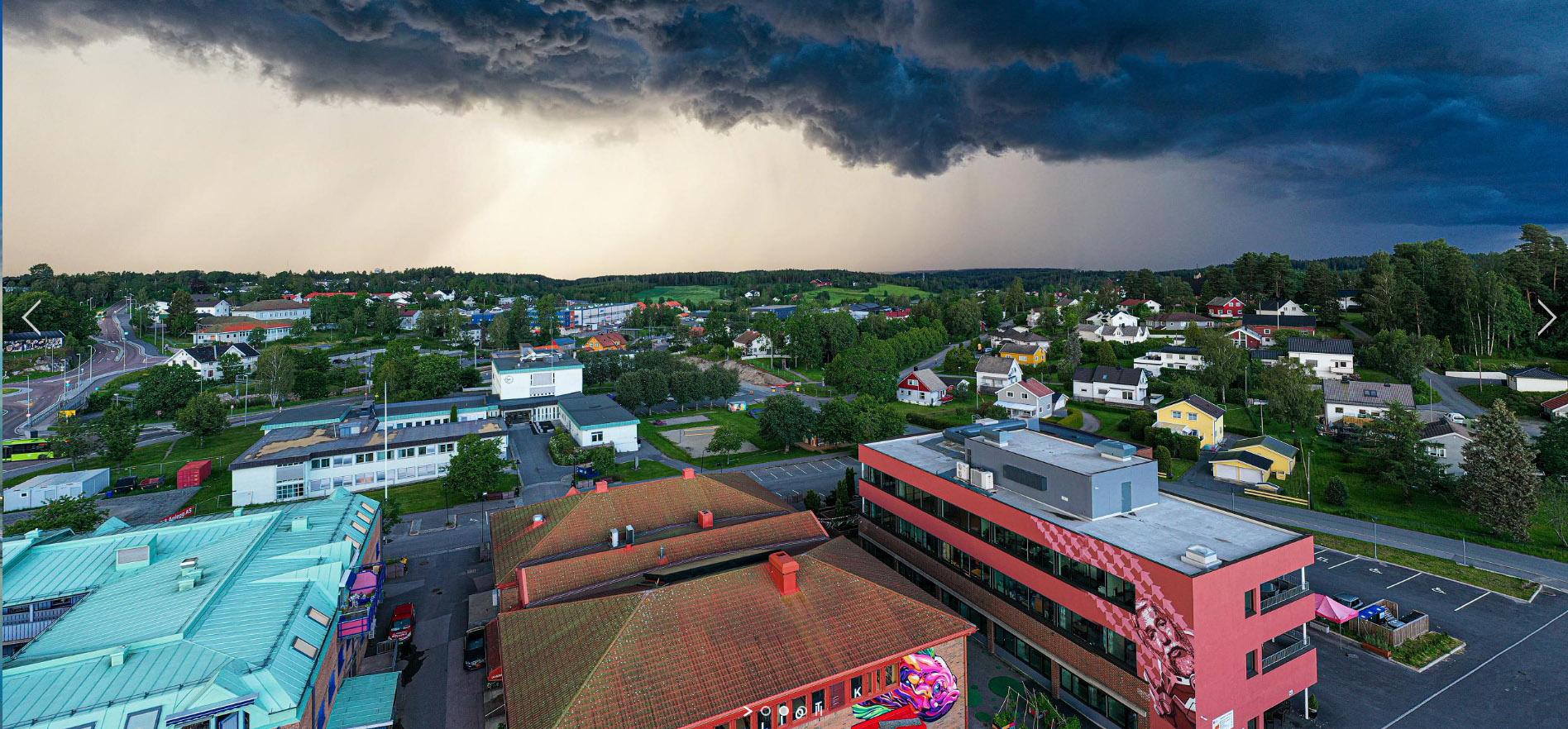 Follo Dronefoto tatt bilde i Vestby Sentrum