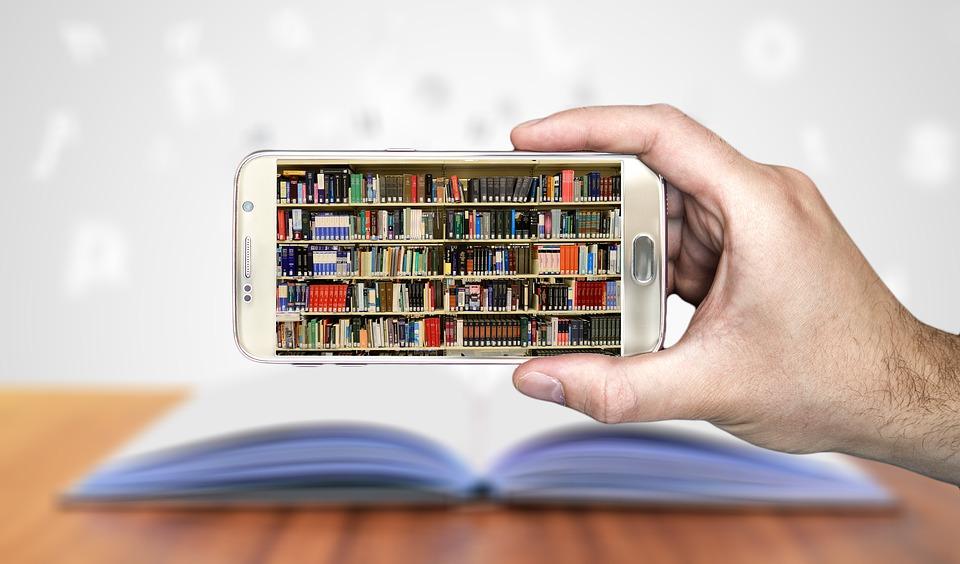 bøker på mobil