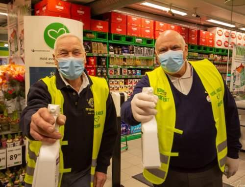 Lions Vestby med forebygging av smitte på KIWI SON og KIWI Sletta