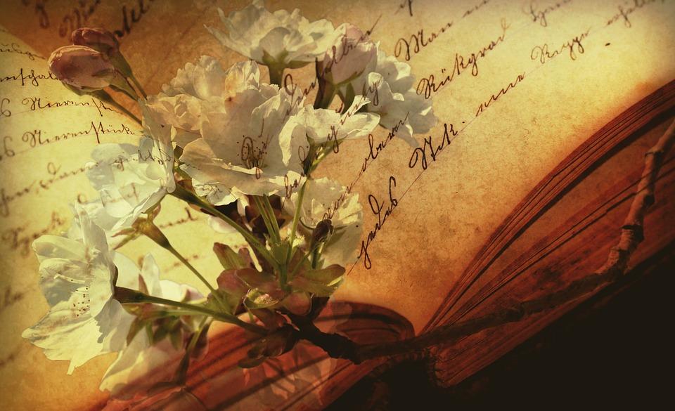 Gammel bok blomster