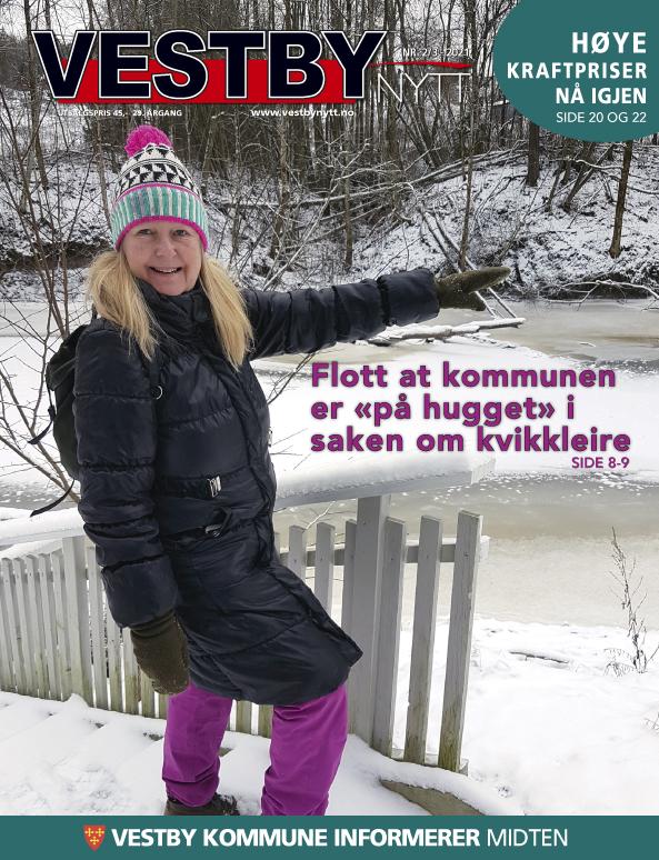 Forside Vestby Nytt nr. 2/3 - 2021