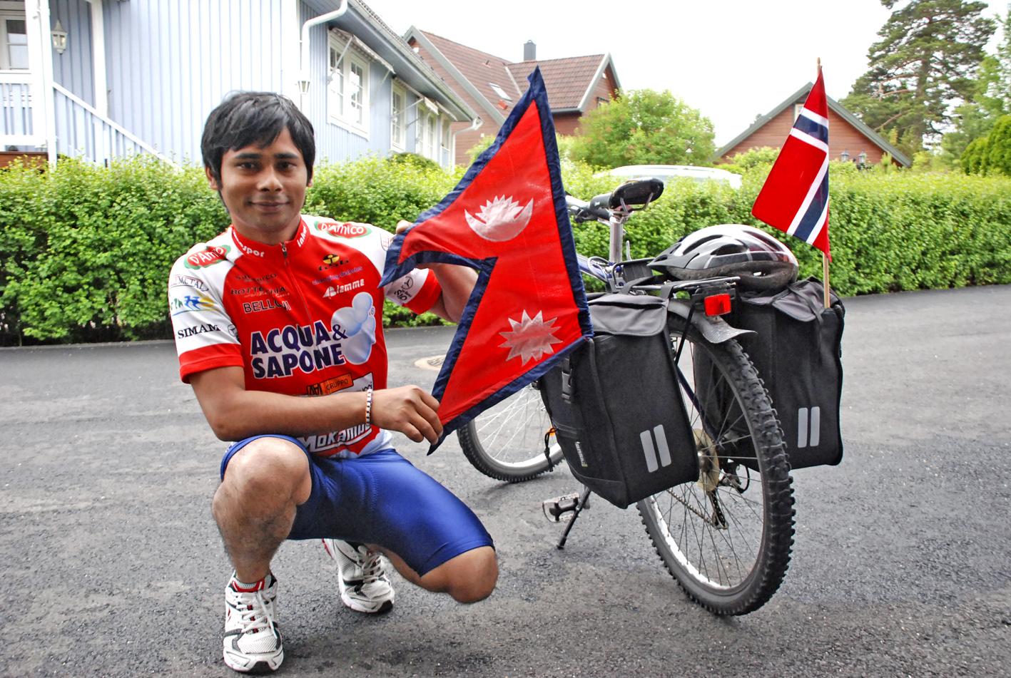 syklist fra Nepal
