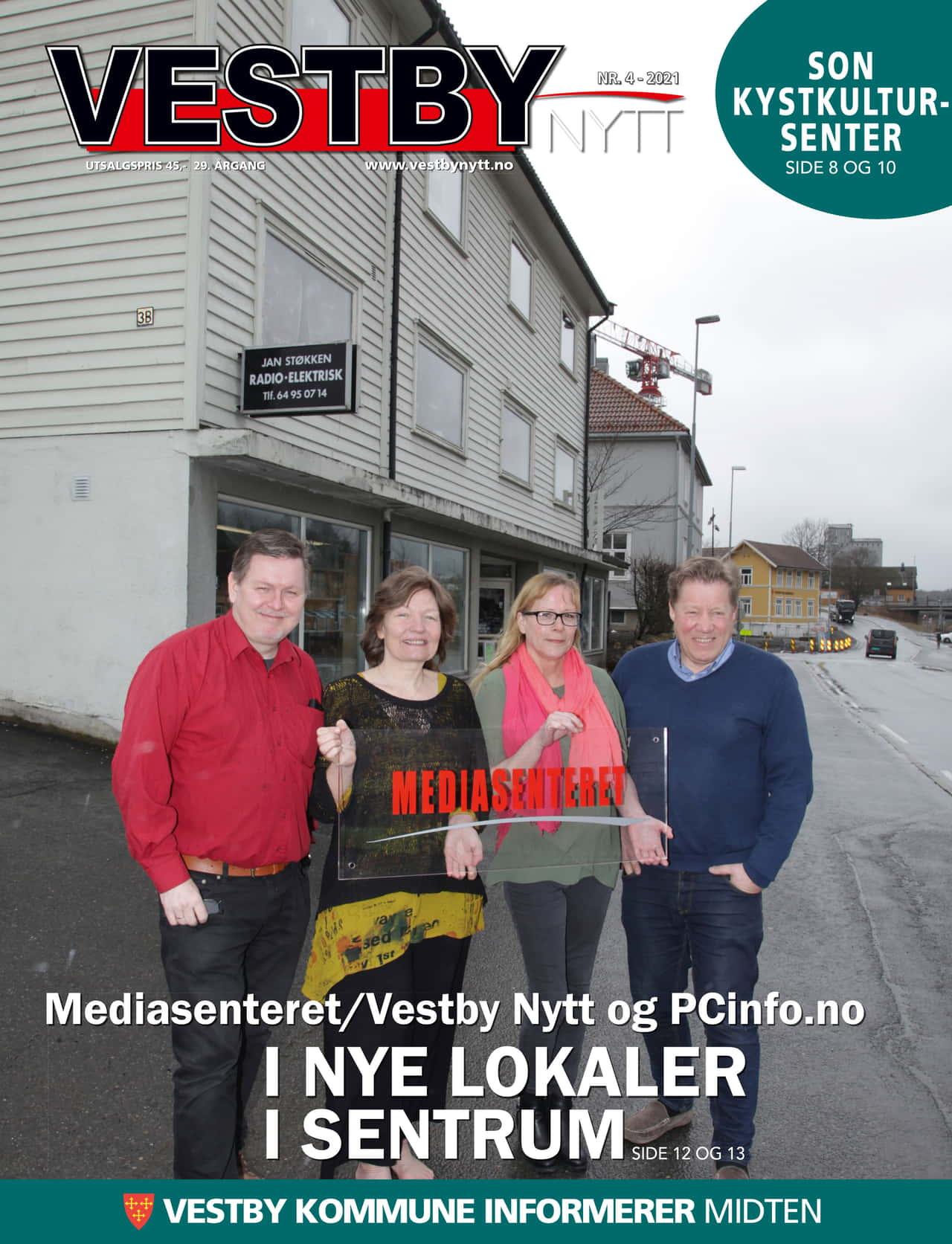 Forside Vestby Nytt nr 4 2021