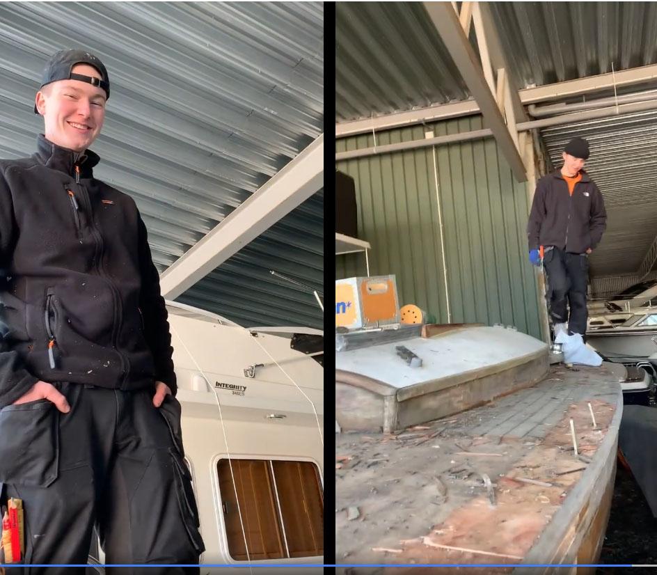 Ungdommene som restaurerer båt