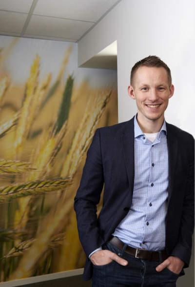 Martin Frøland, banksjef hos SpareBank 1 Østfold Akershus i Vestby.